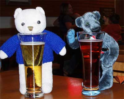 Sharing a beer with a friend