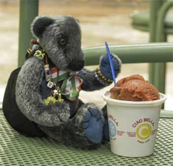 Wilbeary eating his ice cream