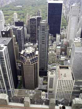Looking down from the top of the rock