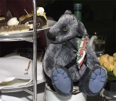 Wilbeary taking afternoon tea at the Dorchester